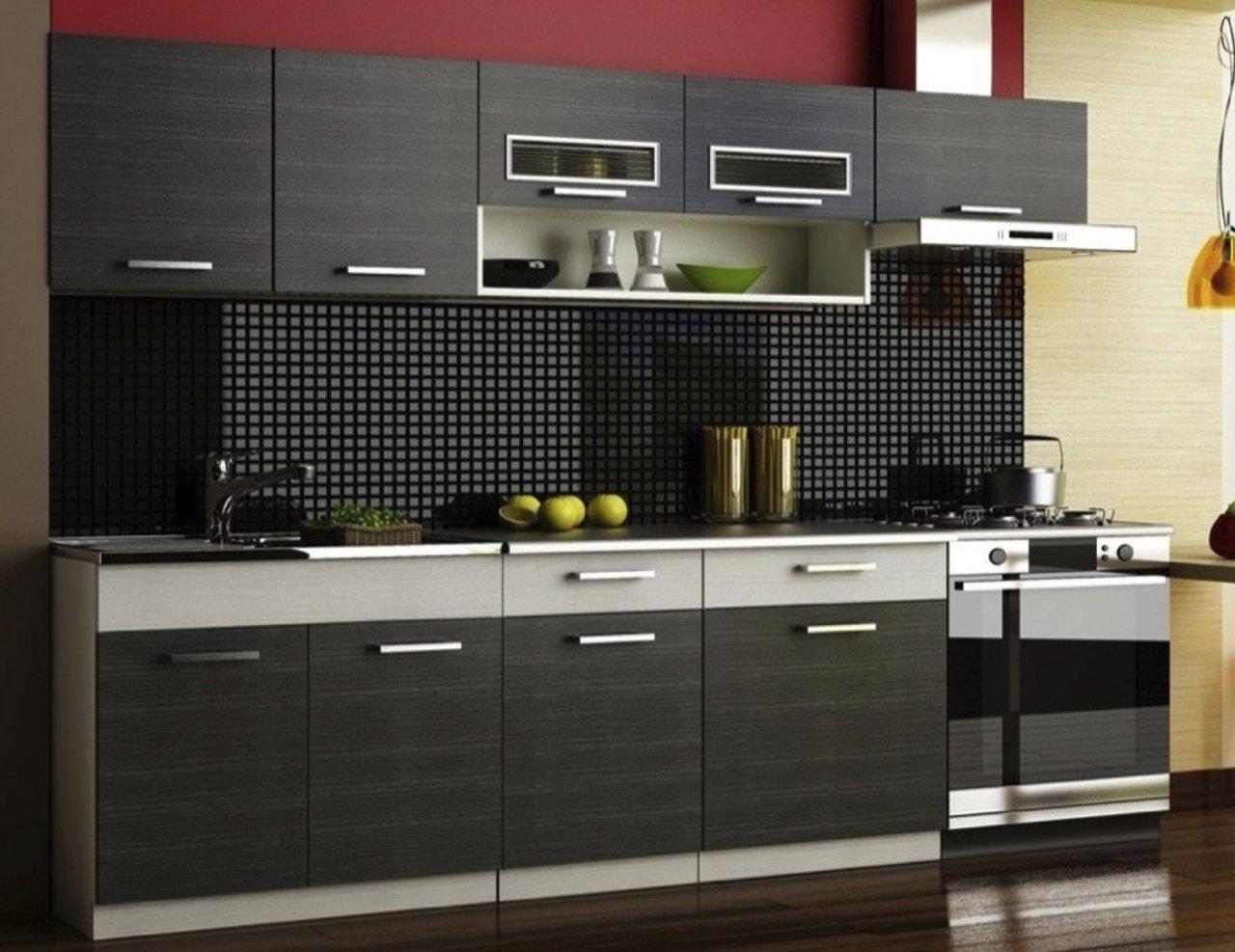 """einbauküche küchenzeile """"pino"""" verschiedene farben 180/240"""