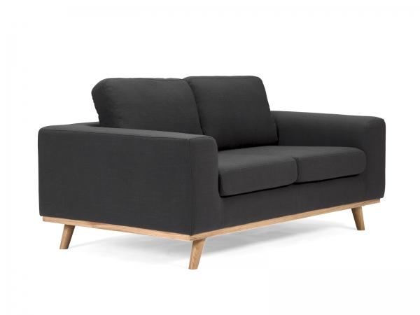 vintage sofa retro couch 2 sitzer 60er jahre look aus stoff. Black Bedroom Furniture Sets. Home Design Ideas