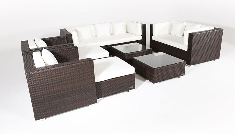 outflexx sitzgruppe aus polyrattan mit kissenboxfunktion. Black Bedroom Furniture Sets. Home Design Ideas