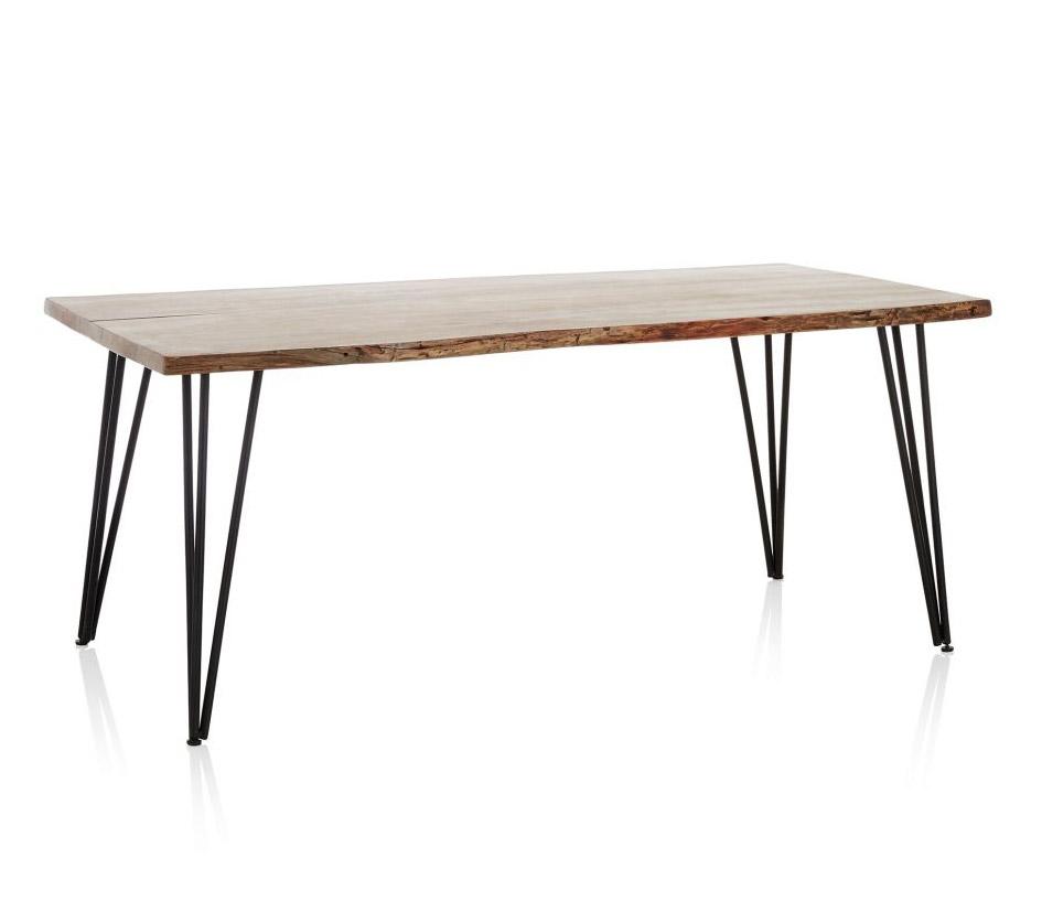 esstisch massivholz industrial look. Black Bedroom Furniture Sets. Home Design Ideas