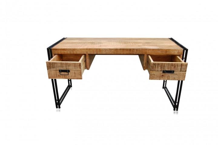 schreibtisch industrial chic design industriell mit schubladen b ro. Black Bedroom Furniture Sets. Home Design Ideas