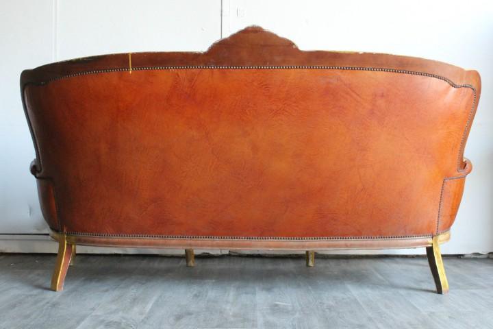barock sofa leder chesterfield couch antik chippendale unikat m bel basar m bel loft. Black Bedroom Furniture Sets. Home Design Ideas