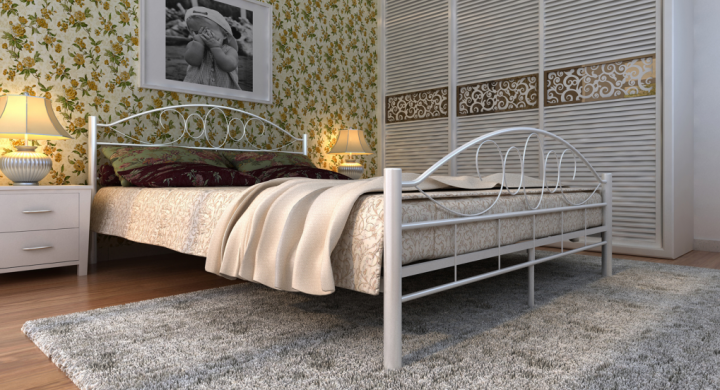 metallbett mit matratze 140 x 200 cm betten schlafen bestellen aufbauen. Black Bedroom Furniture Sets. Home Design Ideas