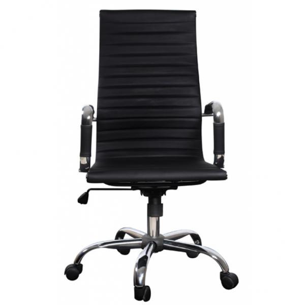 b rostuhl modern mit hoher lehne leder schwarz b ro. Black Bedroom Furniture Sets. Home Design Ideas