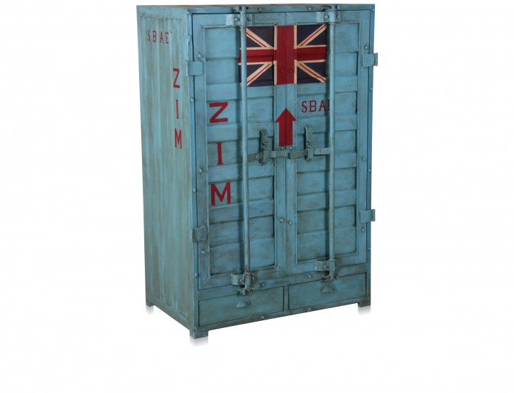 kleiderschrank im container look aus eisen schr nke industrial shabby. Black Bedroom Furniture Sets. Home Design Ideas
