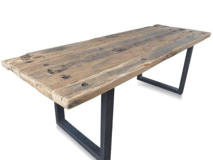 Massivholz esstisch industrial chic design aus recycling for Design holz esstisch