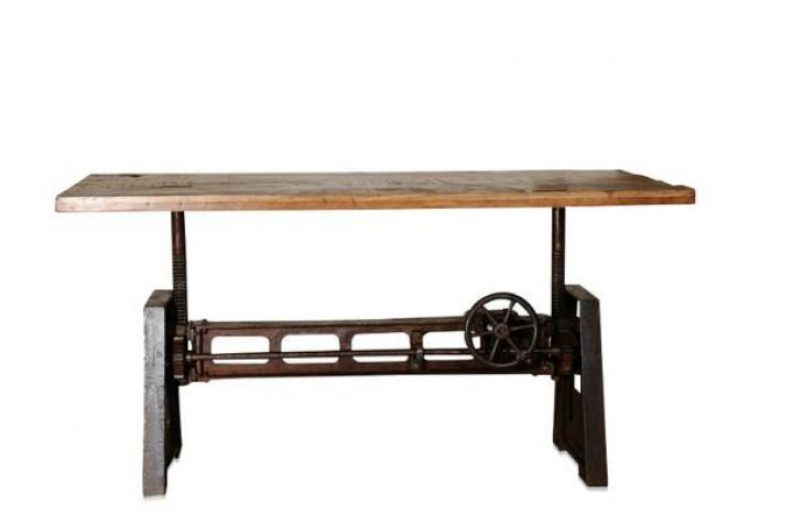 industrial chic esstisch aus holz und eisen7 tische. Black Bedroom Furniture Sets. Home Design Ideas