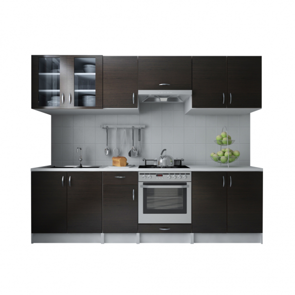 einbauk che 260 cm 4 oberschr nke reduziert einbauk chen k che esszimmer. Black Bedroom Furniture Sets. Home Design Ideas