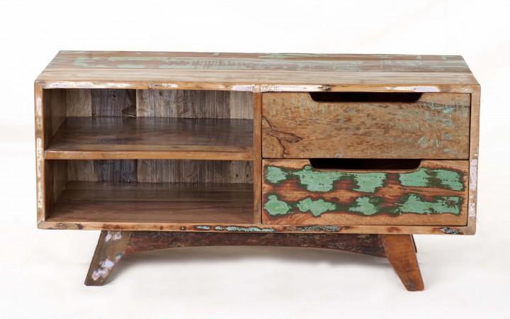 tv kommode shabby chic recyceltes holz kommoden industrial shabby. Black Bedroom Furniture Sets. Home Design Ideas