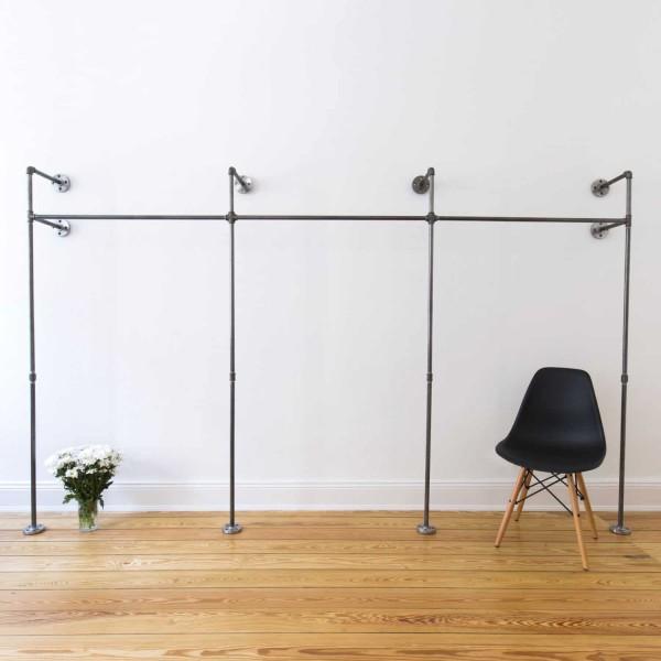 Offener Industrial Design Kleiderschrank - Wasserrohr High