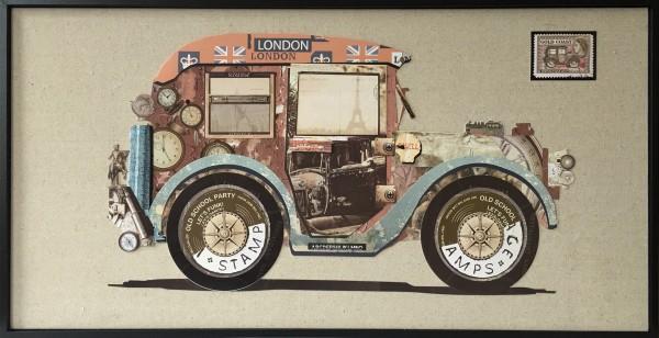 Papier Wandbild Bloomsbury Car 82cm x 42cm