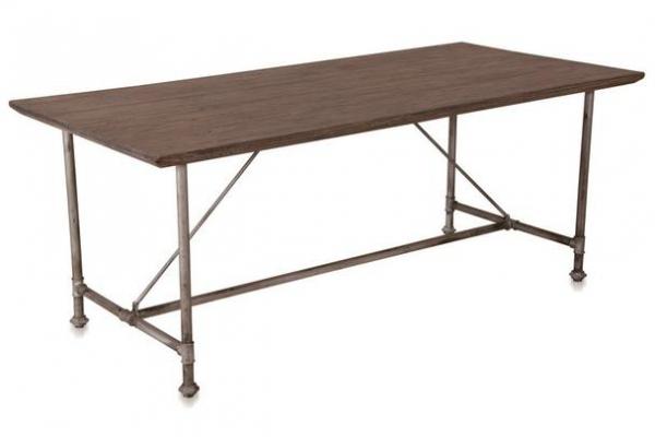 Industrial Chic Esszimmertisch industrieller Tisch aus Ulmenholz und Eisen