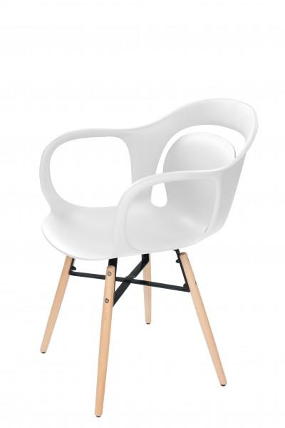 Stuhl Chuck 110 4er-Set Weiß