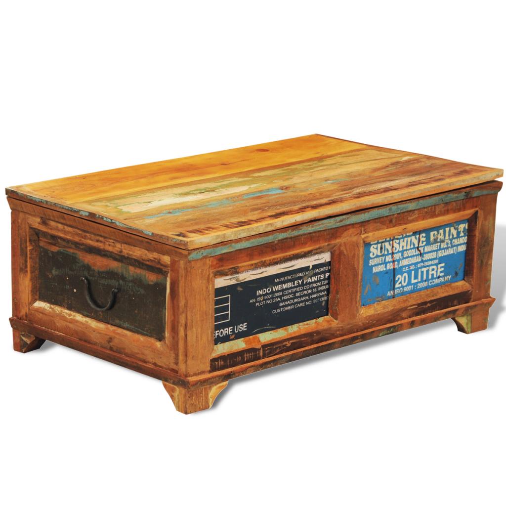 Shabby chic couchtisch aus massivholz aufbewahrungsbox for M bel aus polen bestellen