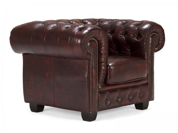 Chesterfield Echtleder Sofa