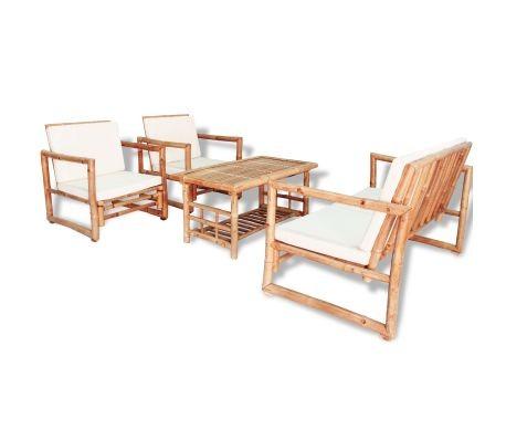 Gartenmöbel-Set Bambus