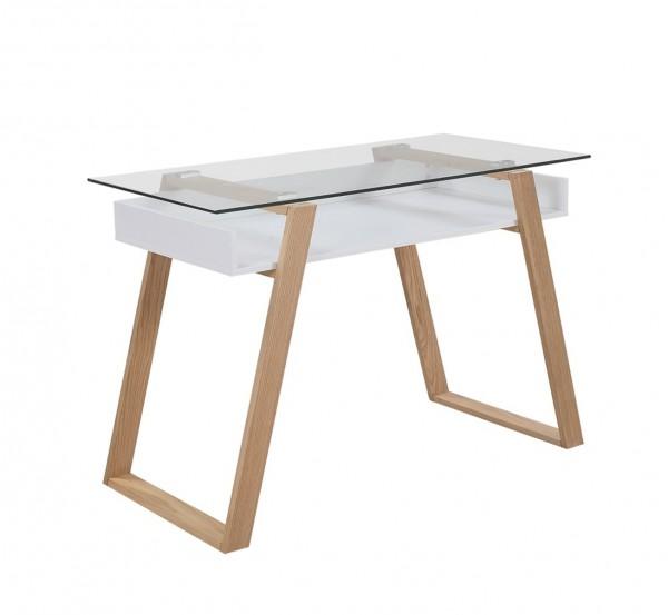 Schreibtisch 110x55x75 cm weiß