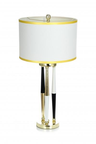 Tisch- / Stehlampe Paralla 110 Weiß / Schwarz / Gold