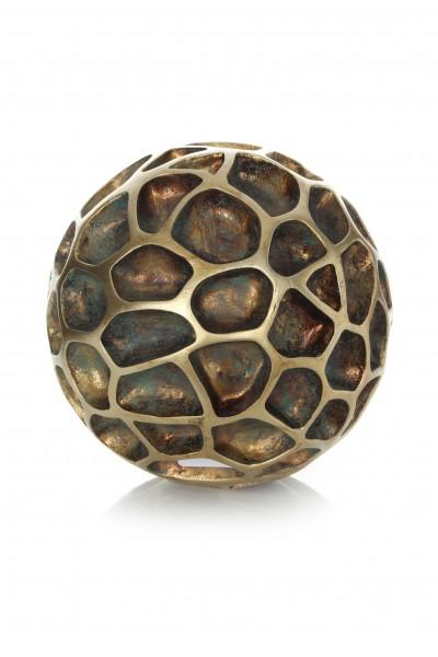Skulptur Sphere 110 Gold