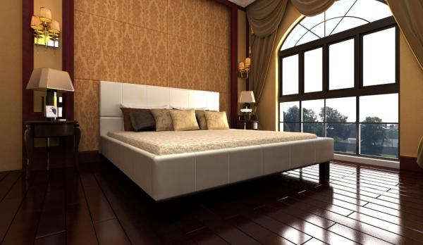 Polsterbett 180 x 200 cm Kunstleder Bett weiß