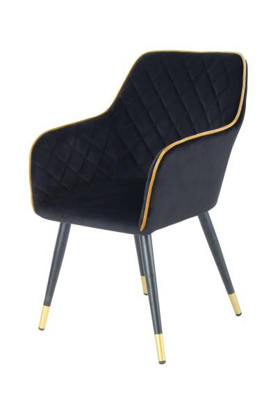Stuhl Amino 525 Schwarz / Gold