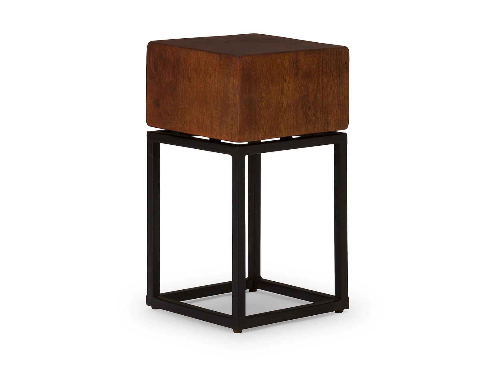 industrial hocker cube braun industrie look sitzm bel industrial shabby. Black Bedroom Furniture Sets. Home Design Ideas