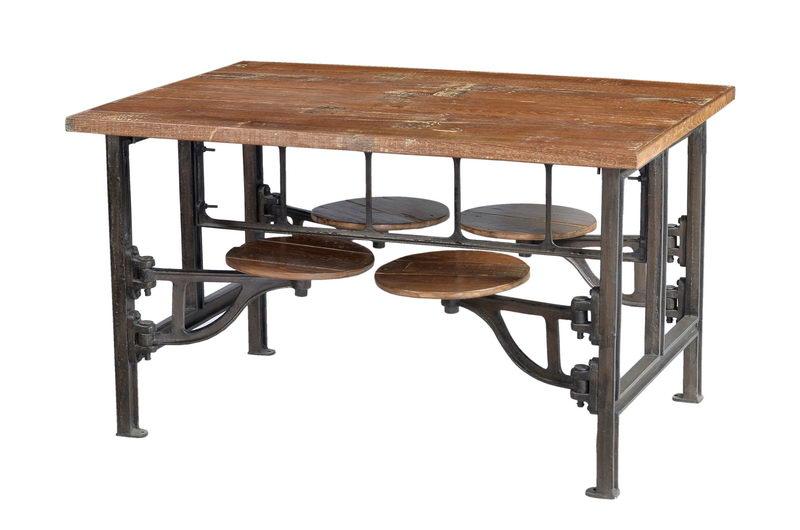 massivholz esstisch industrial look industriell mit sitzen versandkostenfreie. Black Bedroom Furniture Sets. Home Design Ideas