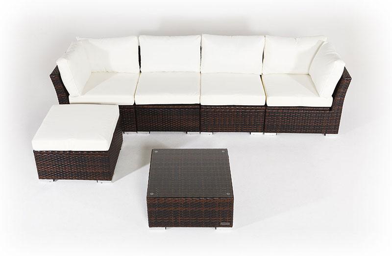 OUTFLEXX Rattan Gartenmöbel aus Polyrattan mit Kissenboxfunktion