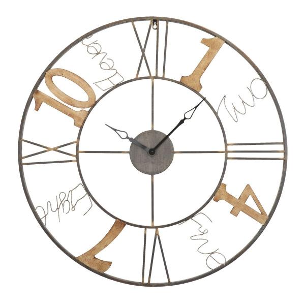 Vintage Look Uhr - Wanduhr Jumble