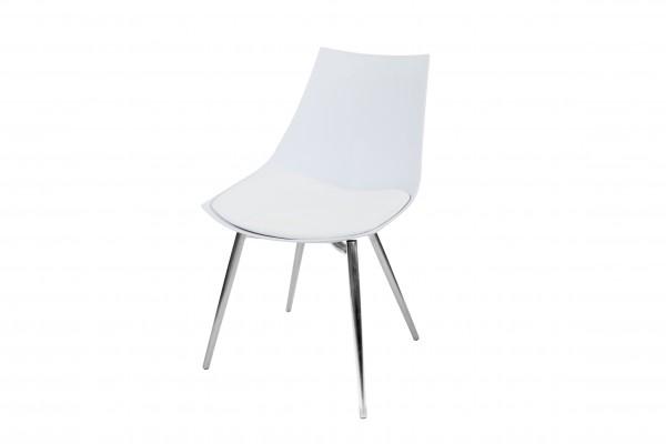 Stuhl Dakota 210 4er-Set Weiß / Chrom