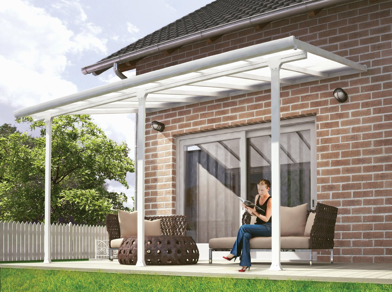 feria terrassen berdachung 300x610 cm txb carport terrassendach wei berdachungen. Black Bedroom Furniture Sets. Home Design Ideas