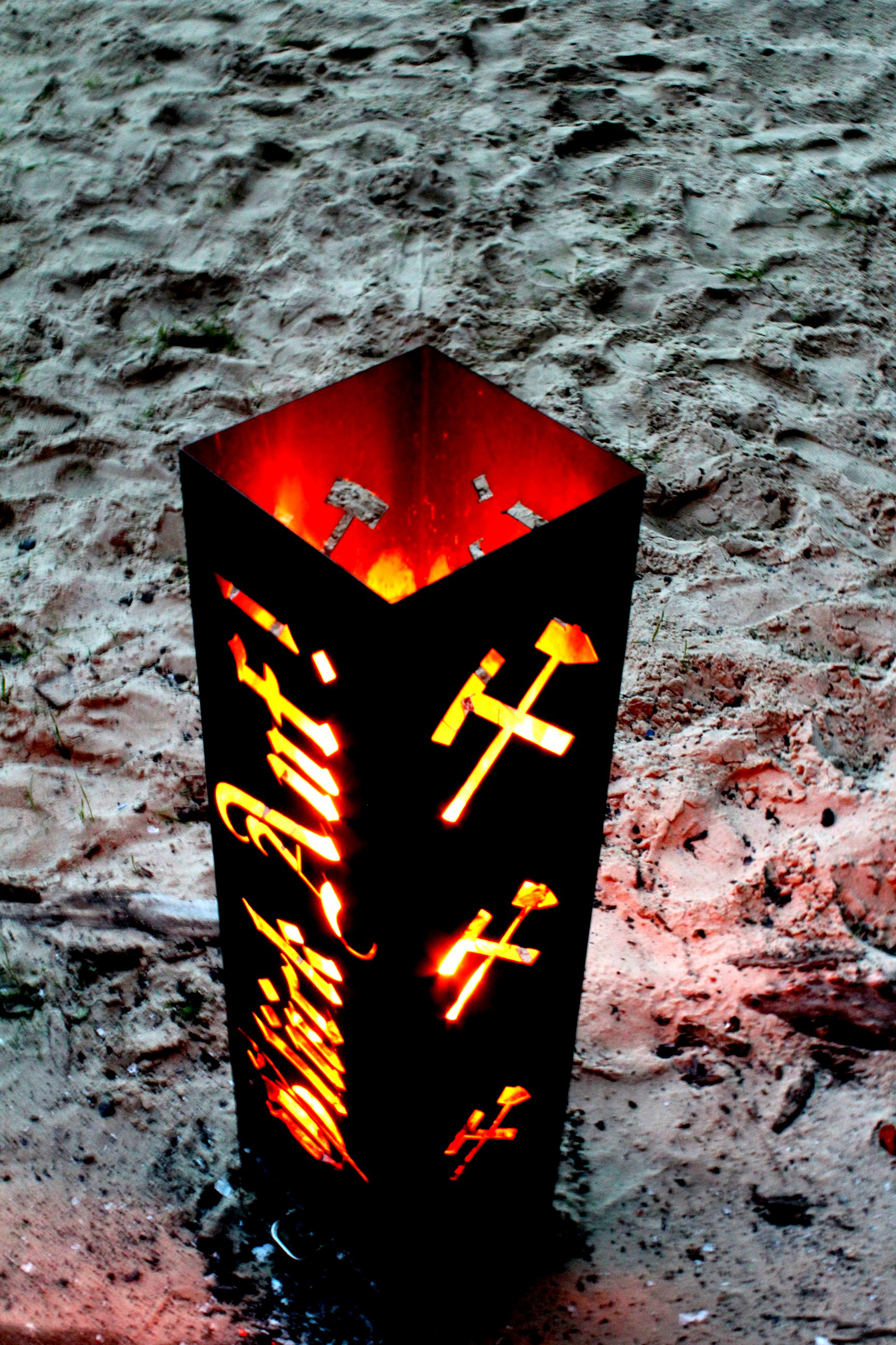 Feuersäule Ruhrgebiet Feuerschale Feuerkorb Kamin Sonstiges