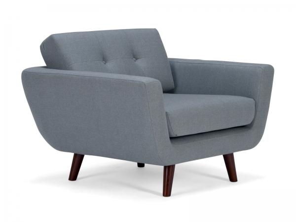 Vintage Sessel im 60er Jahre Look aus Stoff Grau