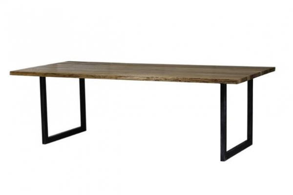 Industrieller Esszimmertisch aus Massivholz