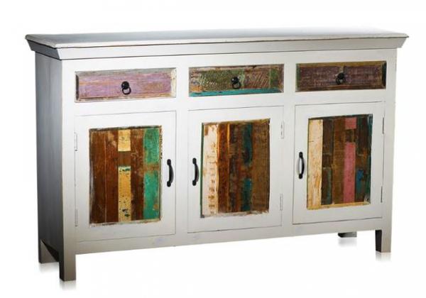 Sideboard Shabby Chic Design Kommode white Wash