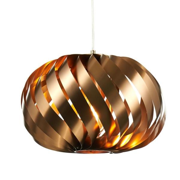 Deckenleuchte oval Kupfer-Look