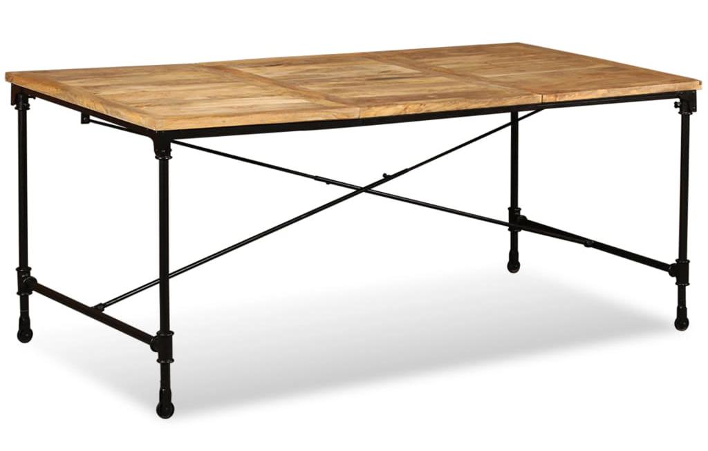 esstisch industrie look 180cm mit rollen versandkostenfreie m bel online. Black Bedroom Furniture Sets. Home Design Ideas