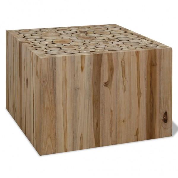 Couchtisch Echtholz 50 x 50 x 35 cm