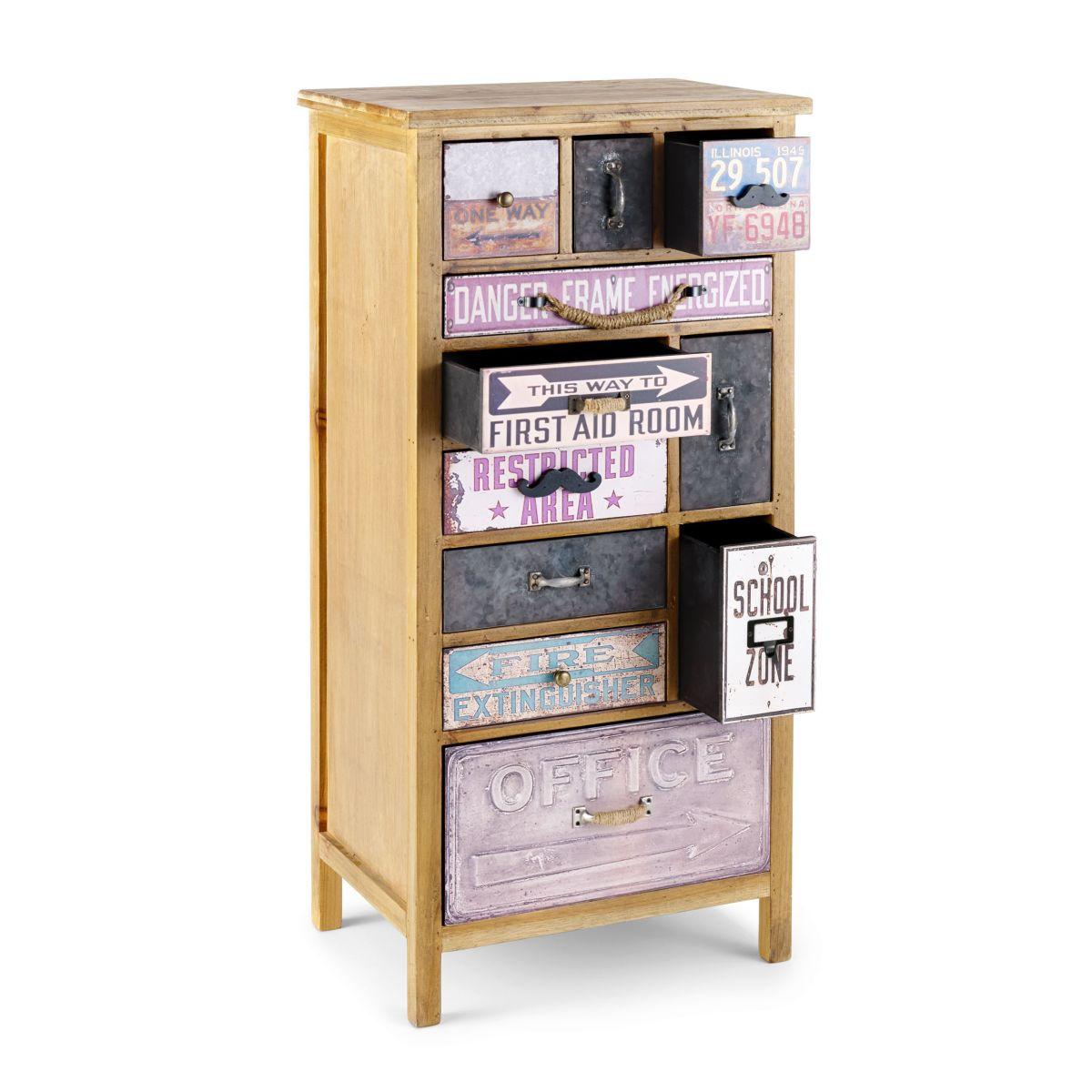 kommode fabi aus holz metall papier leinen versandkostenfreie m bel online. Black Bedroom Furniture Sets. Home Design Ideas