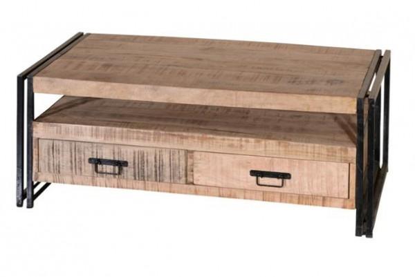 industrial chic couchtisch industrie look mit schubladen tische industrial shabby. Black Bedroom Furniture Sets. Home Design Ideas
