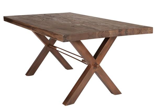Esstisch Industrial Style Balkeneiche - Kupfer-Look