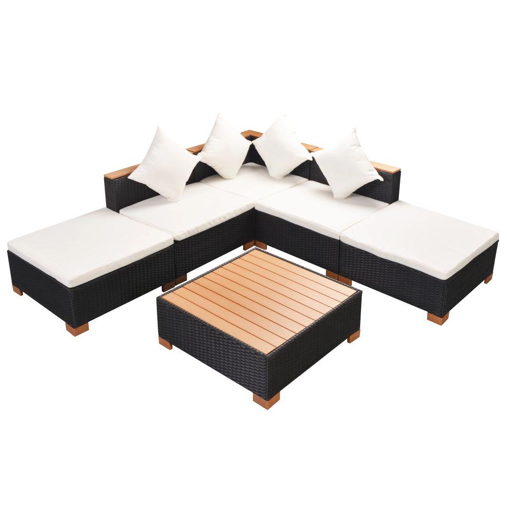 garten lounge set poly rattan. Black Bedroom Furniture Sets. Home Design Ideas