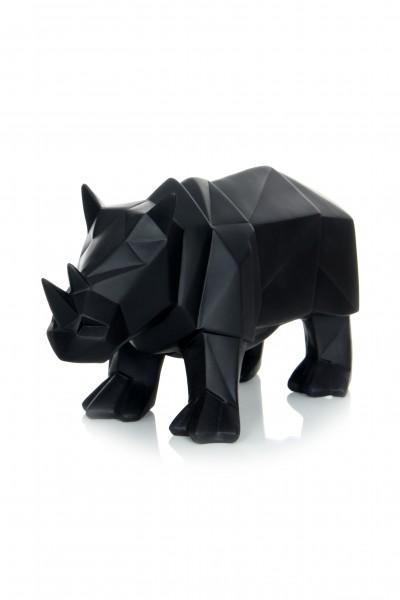 Skulptur Rhino 110 Schwarz