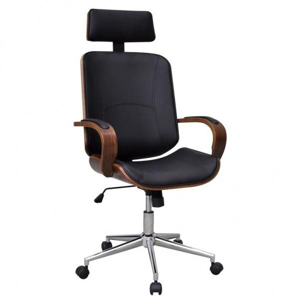 Büro-Drehstuhl mit Kopfstütze