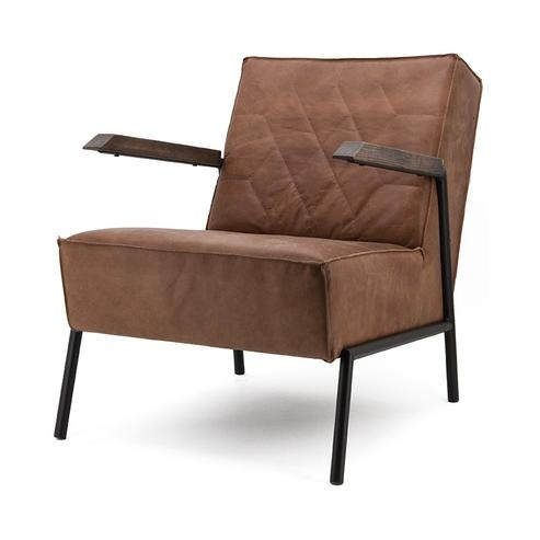 Armlehnen Sessel aus Echtleder