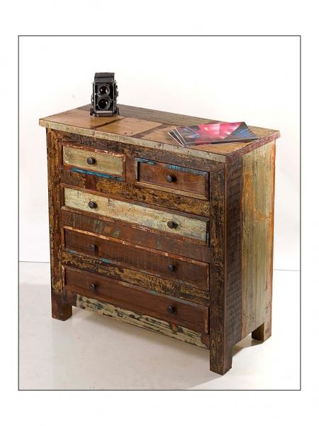 Kommode Schubladenschrank aus Recycling-Holz