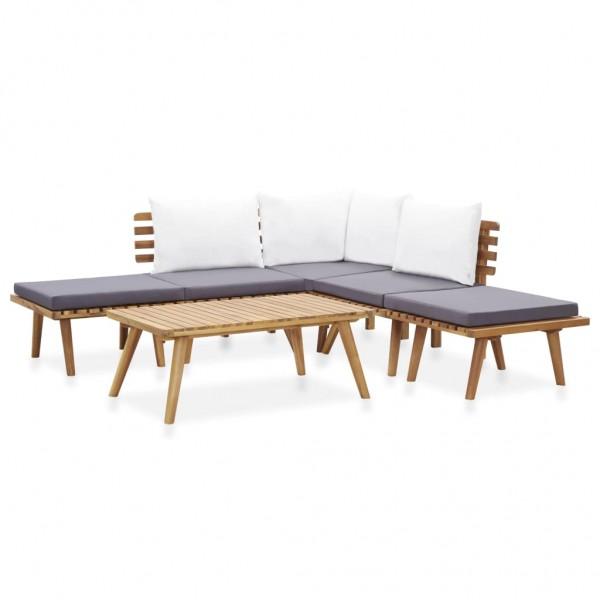 Garten-Lounge-Set Massivholz Akazie 6-tlg.