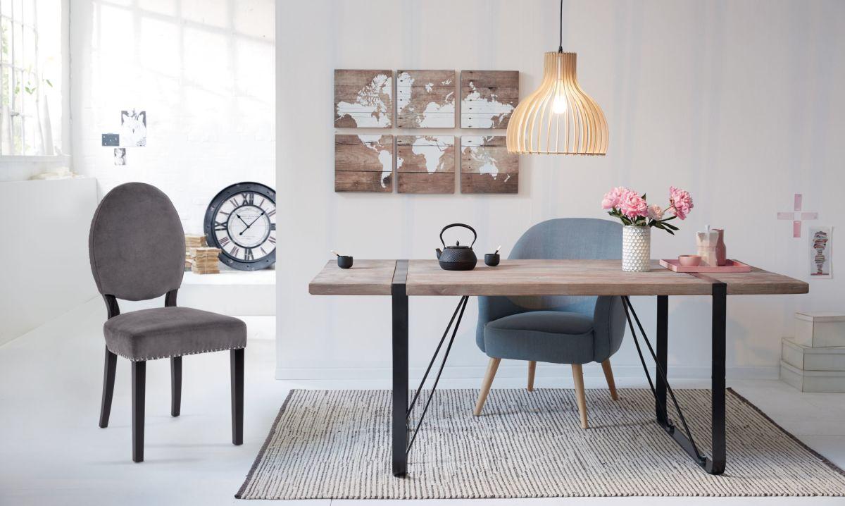 esstisch industrial look aus dattelholz versandkostenfreie m bel online bestellen. Black Bedroom Furniture Sets. Home Design Ideas