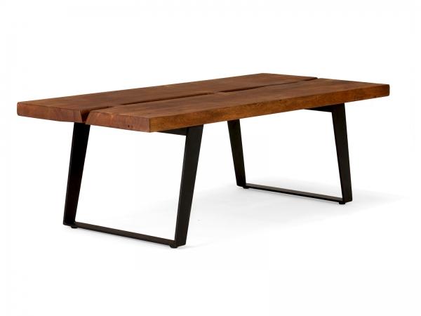 Industriedesign Möbel Couchtisch Massivholz - Industrial Chic