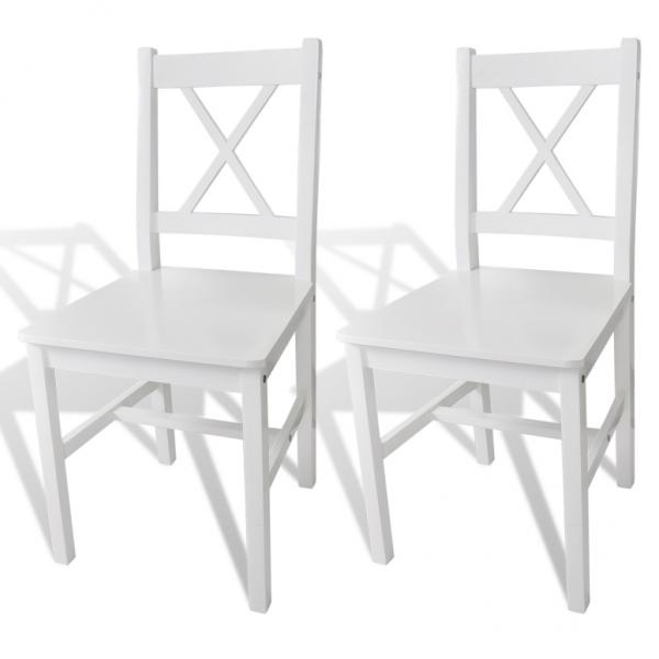 2er Set Holzstuhl Esszimmer weiß